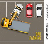 bad parking concept with top... | Shutterstock .eps vector #426193510