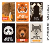 mini posters set with different ... | Shutterstock .eps vector #426193639
