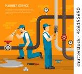 inspection of pipeline... | Shutterstock .eps vector #426193690