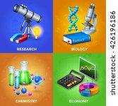 science 2x2 design concept set... | Shutterstock .eps vector #426196186