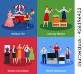 icons set with vendors... | Shutterstock .eps vector #426196423