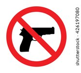 prohibiting sign for gun. no... | Shutterstock .eps vector #426197080