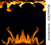 fire flames on black background ... | Shutterstock . vector #426199438