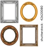 oval and rectangular gold... | Shutterstock . vector #42620080