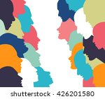 talking concept. people profile ... | Shutterstock .eps vector #426201580