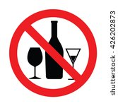prohibiting sign for alcohol.... | Shutterstock .eps vector #426202873