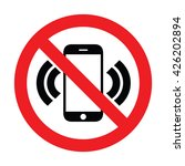 prohibiting sign for cell phone....