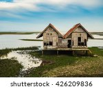 Dilapidated Of House In Lagoon...