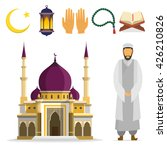 set of islamic religious... | Shutterstock .eps vector #426210826
