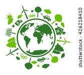 green eco planet | Shutterstock .eps vector #426218410