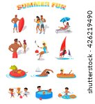 summer holidays color icons... | Shutterstock .eps vector #426219490