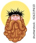 portrait of jesus christ... | Shutterstock .eps vector #426219610