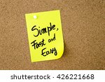 simple  fast and easy written... | Shutterstock . vector #426221668