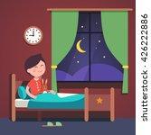 boy kid preparing to sleep...   Shutterstock .eps vector #426222886