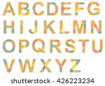 alphabet a z  single letters... | Shutterstock .eps vector #426223234