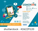 coaching concepts of words... | Shutterstock .eps vector #426229120