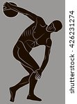 discus thrower turning to throw ... | Shutterstock .eps vector #426231274