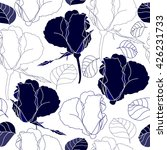 seamless pattern with blue... | Shutterstock .eps vector #426231733