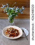 fried mushrooms chanterelles...