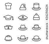 hats icons set | Shutterstock .eps vector #426250624