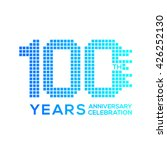 100 years anniversary with a...   Shutterstock .eps vector #426252130