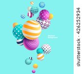 multicolored decorative balls.... | Shutterstock .eps vector #426252934