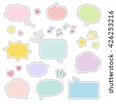 set of sticky style speech... | Shutterstock .eps vector #426253216
