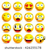 smiley face and emoticon simple ... | Shutterstock .eps vector #426255178