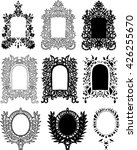 vector set of abstract frames.... | Shutterstock .eps vector #426255670