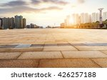 empty floor and modern building ... | Shutterstock . vector #426257188