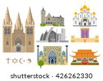 Cathedrals And Churches Vector...