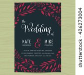 save the date  wedding... | Shutterstock .eps vector #426273004