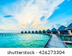 beautiful tropical maldives... | Shutterstock . vector #426273304