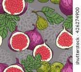 vector seamless hand drawn figs ... | Shutterstock .eps vector #426274900