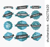 set of retro labels  stickers... | Shutterstock .eps vector #426275620