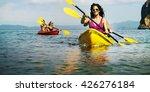 kayak activity leisure exercise ... | Shutterstock . vector #426276184