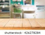 wooden table mock up interior... | Shutterstock . vector #426278284