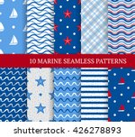 ten marine different seamless... | Shutterstock .eps vector #426278893