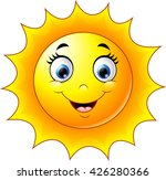 cute cartoon sun | Shutterstock . vector #426280366