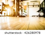 empty of floor at a fitness gym ... | Shutterstock . vector #426280978