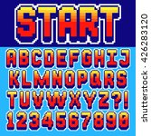 pixel retro font video computer ... | Shutterstock .eps vector #426283120
