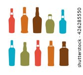 colorful alcoholic drinks... | Shutterstock .eps vector #426285550