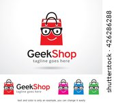 geek shop logo template design... | Shutterstock .eps vector #426286288