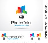 photo color logo template... | Shutterstock .eps vector #426286384