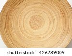 bamboo plate isolated on white... | Shutterstock . vector #426289009