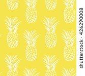 vector seamless pineapples | Shutterstock .eps vector #426290008