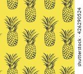 vector seamless pineapples  | Shutterstock .eps vector #426290524