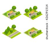 set of park concepts with tree  ... | Shutterstock .eps vector #426291514