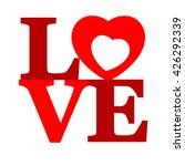 lettering love.  | Shutterstock .eps vector #426292339