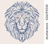 hand drawn lion head isolated.... | Shutterstock .eps vector #426293530